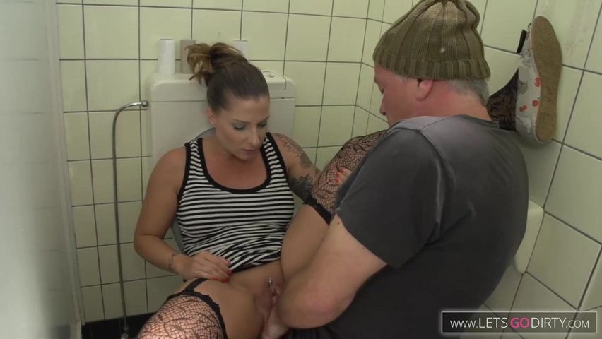 Tattoed German Teen Gets Fucked On The Bathroom Toilet Bowl And